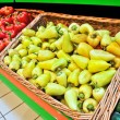 Yellow pepper in the store — Stock Photo
