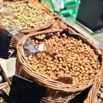 Nuts kabukim on the market — Stock Photo