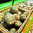 Foto Stock: Celery root in store