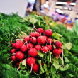 Radishes in store — Stock Photo