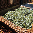 Pumpkin seeds in a store — Stock Photo