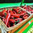 Red pepper in the store — Stockfoto