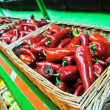 Red pepper in the store — Stock Photo