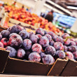 Plums in the supermarket — Stock Photo