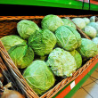 Savoy cabbage in the store — Stock Photo