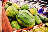 Watermelons on store shelves — ストック写真