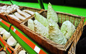 Cone-shaped cabbage in the store — Stock Photo