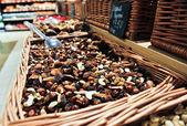 坚果和干果的混合 — 图库照片