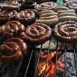 Stock Photo: Sausage on grill