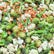 Frozen vegetables backgrounds set — Stock fotografie