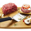 Stock Photo: Pieces of raw meat on the board