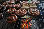 Sausage on the grill — Stock Photo
