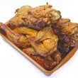 Smoked chicken in a plate — Stock Photo