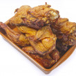 Smoked chicken in a plate — Stock Photo #41901715