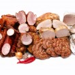 A lot of sausage meat — Stock Photo #41902119