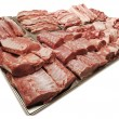 Stock Photo: Large assortment of meat