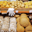 Stock Photo: Bread shelves