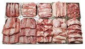 Meat showcase — Stock Photo