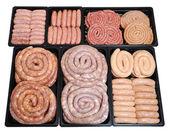 Raw sausage — Stock Photo