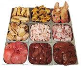 Plenty of fresh pig meat — Stock Photo