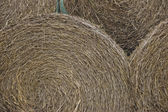 Closeup of a haystack for rural background — Stock Photo