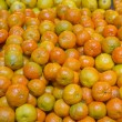 Bunch of fresh mandarin oranges on market — Stock Photo #44248925