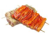 Raw marinated ribs — Stockfoto