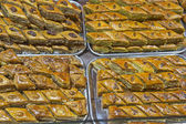 Sweet oriental sweets and baklava at the bazaar — Stock Photo