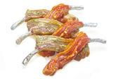 Raw meat on the rib sauce marinade — Stock Photo