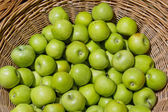 Green Apple Background, shallow depth of field — Stock Photo
