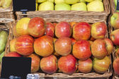 Beautiful apples in the supermarket — Stock Photo