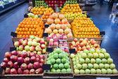 Supermarket fruit section — Stock Photo