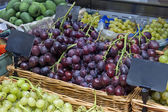 Ripe red grapes at the market — Stock Photo