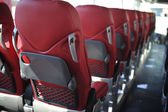 Seats in a tourist bus — Stock Photo