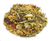 Herbal tea herbal blend alpine bow — Stock Photo