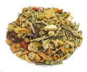 Herbal tea herbal blend alpine bow — Stock Photo