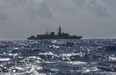 Military peacekeeping patrol ship — Stock Photo
