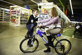 Child on bicycle — Stock fotografie