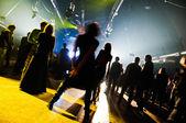 People enjoying night perfomance — Stock Photo