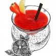 Daiquiri alcohol cocktail — Foto Stock