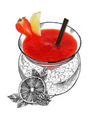 Daiquiri alcohol cocktail — Stock Photo