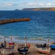 Boats Moored in Sennen Cove - Stock Photo