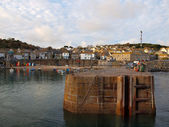 Mousehole Village Harbour — Stock Photo