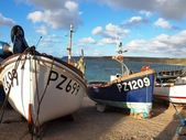 Fishing Boats Sennen Cove Cornwall — Stock Photo