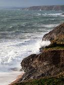 Cornwall Coast Winter Waves — Stock Photo
