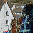 Crab Pots at Cadgwith Cove Cornwall — Stock Photo #22652849