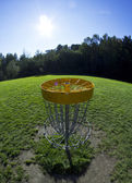 Disc golf basket3 — Stock Photo