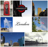 Londen collage — Stockfoto