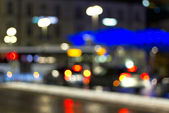 Coches y citylights — Foto de Stock