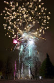 Fireworks launched from the ground — Stock Photo
